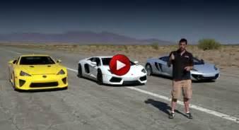 Vs Bugatti Vs Lamborghini Lamborghini Aventador Vs Bugatti Veyron Vs Lexus Lfa Vs