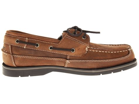 new sebago grinder leather boat shoes mens size 9 5
