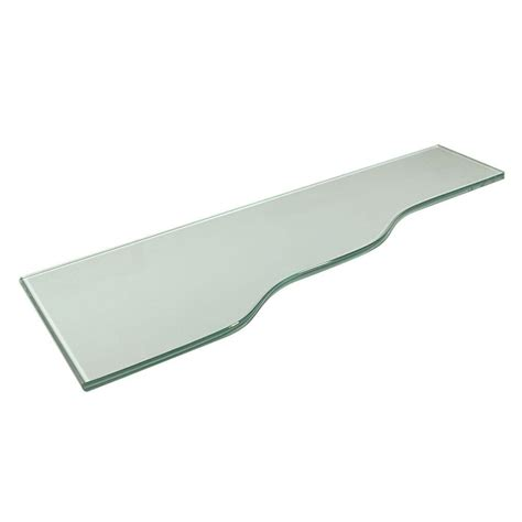 24 Glass Shelf by Vincenza Strada 8 In X 24 In Opaque Glass Shelf With 24