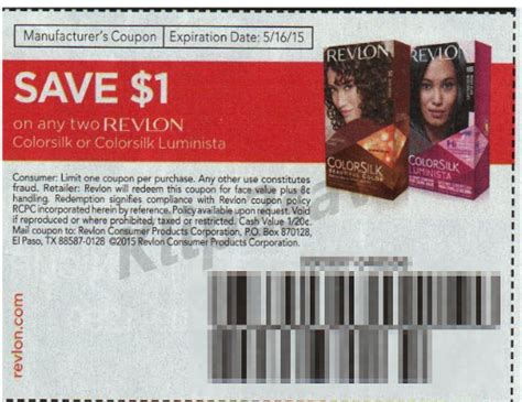 hair dye coupons 9 coupons discounts december 2015 revlon hair color only 2 50 at walgreens with insert