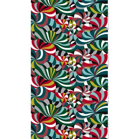 Marimekko Spinning Red Upholstery Fabric Marimekko
