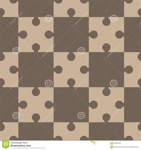 2 color pattern vector puzzle regular seamless pattern stock vector image