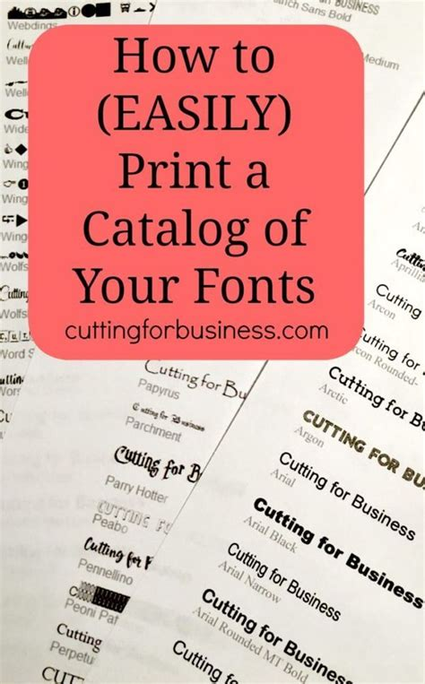 printable font catalog how to easily print a catalog of your fonts cricut