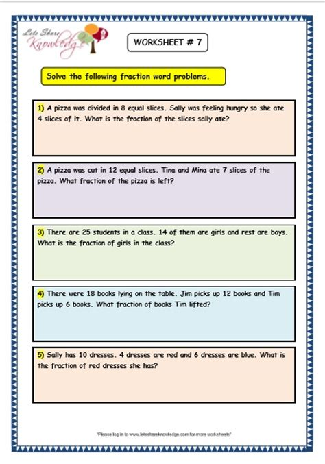 Fractions Word Problems Worksheets by Grade 3 Maths Worksheets 7 9 Fraction Word Problems