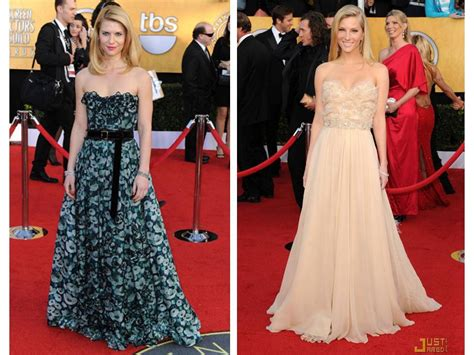 claire danes wedding dress claire danes and heather morris done a line strapless