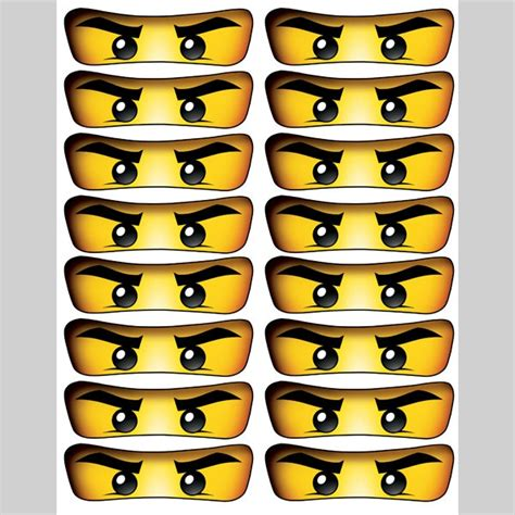 printable lego eyes ninjago eyes 4 inch for balloon stickers lollipop
