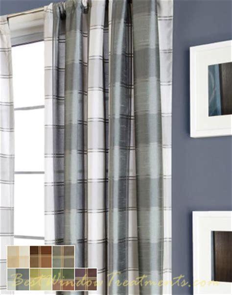 plaid drapery panels envoy plaid curtain drapery panels