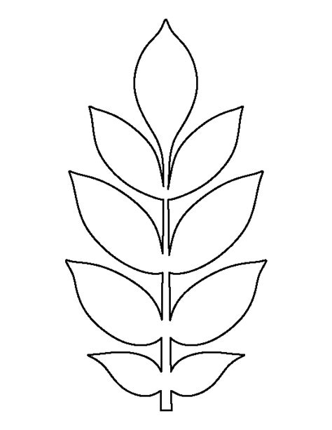 printable flower leaves template ash leaf pattern use the printable outline for crafts