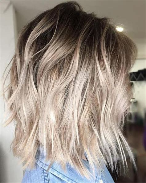 blonde bob dark roots ash blonde balayage bob style with dark roots 2017 hollysoly