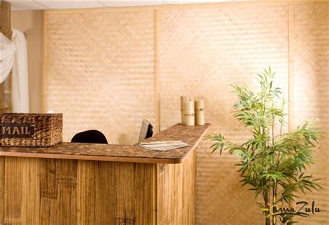 bamboo reception desk rustic materials in modern design business edition amazulu