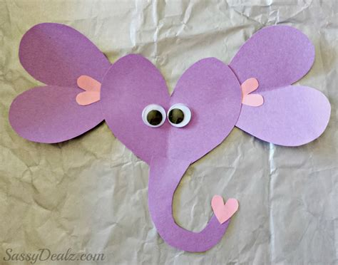Paper Craft Elephant - valentines day elephant craft for toilet paper roll