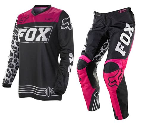 pink motocross gear fox mx 2014 hc women s motocross black pink gear set