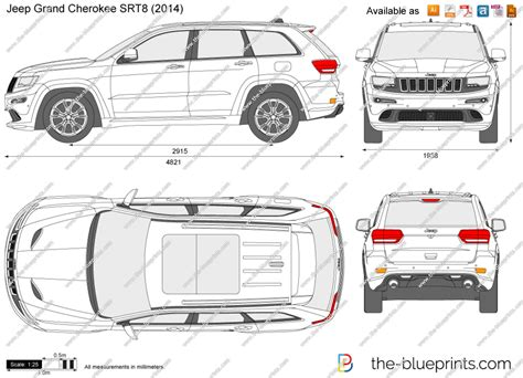jeep drawing the blueprints com vector drawing jeep grand cherokee srt8
