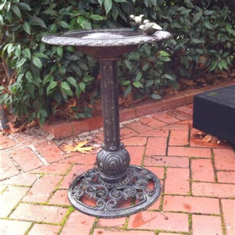 cast iron bird bath price coming soon