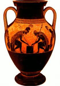 flashcards table on ancient vases