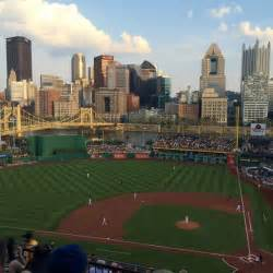 section 321 pnc park pnc park section 321 row m seat 4 pittsburgh pirates vs