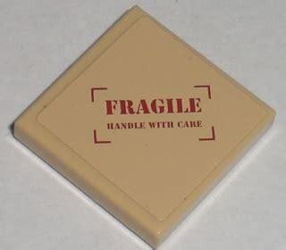 Stiker Fragile Ds bricker part lego 3068bpb0303 tile 2 x 2 with fragile handle with care pattern sticker