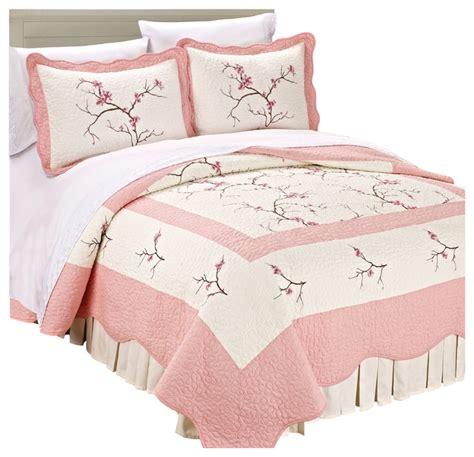 Tradewinds Bathroom Vanities Cherry Blossom Bedspread Quilt 3 Piece Bed Sets Asian