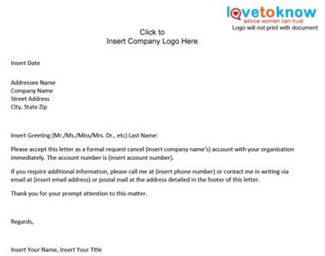 Cancellation Letter To Phone Company Sle Contract Termination Letter Doc