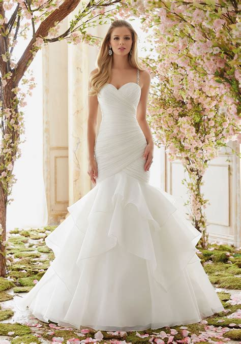 Brautkleider Organza by Beaded Straps On Organza Wedding Dress Style
