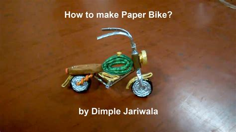 How To Make A Bike Out Of Paper - how to make paper bike
