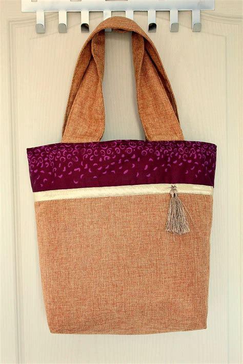 pattern for burlap tote bag color block tote bag tutorial for beginner sewists