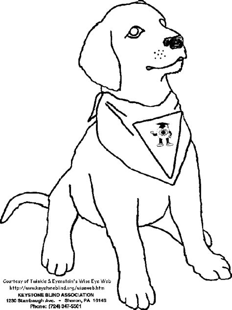 coloring pages of guide dogs template for az coloring pages