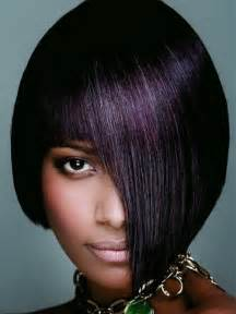 black haircuts dye bob hairstyles with plum hair colors gorgeous hairstyles