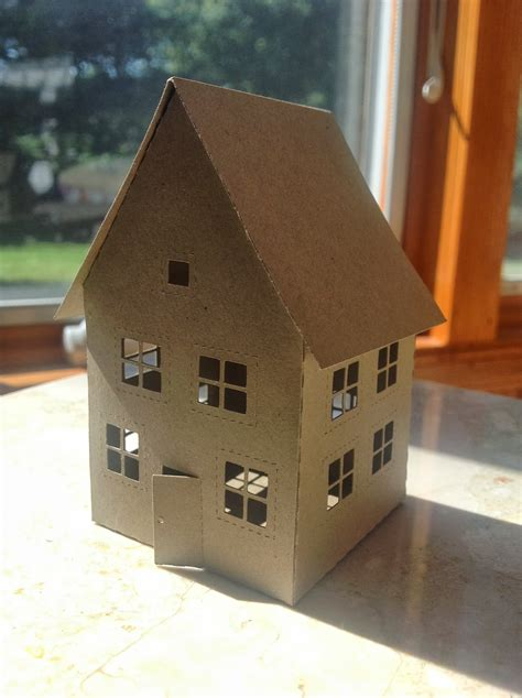 How To Make A House Out Of Paper - papercrafts and other things i now paper