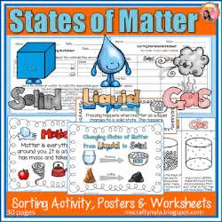 nyla s crafty teaching states of matter worksheets