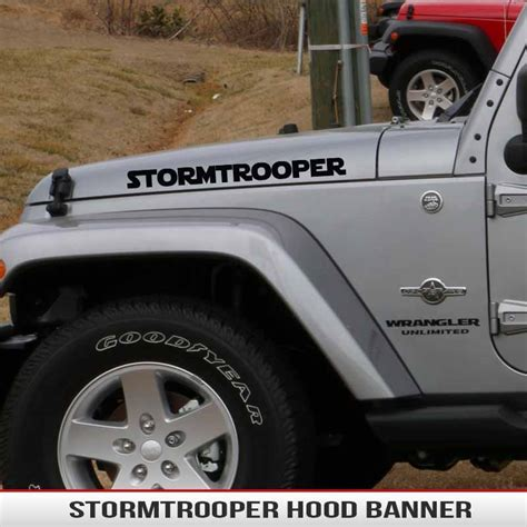 jeep wrangler stickers starwars stormtrooper hood decal alphavinyl