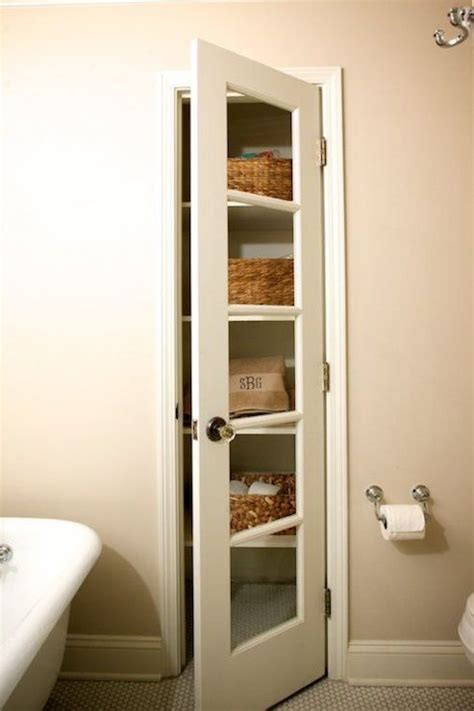 Bathroom Linen Closet Doors Linen Closet In Bathroom Winding Way Bathrooms Pinterest