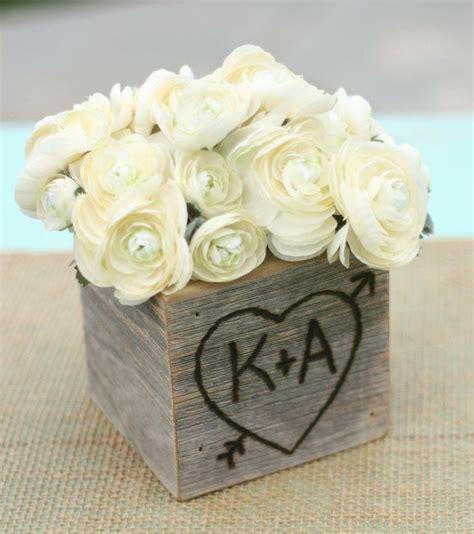 Wooden Vases Wedding by Rustic Barn Wood Planter Vase Wedding Shabby Chic