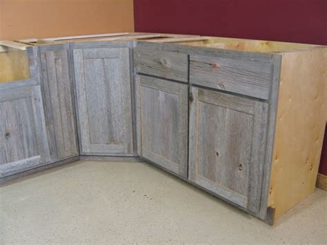 Weathered Wood Cabinets by Weathered Gray Barn Wood Kitchen Island Country