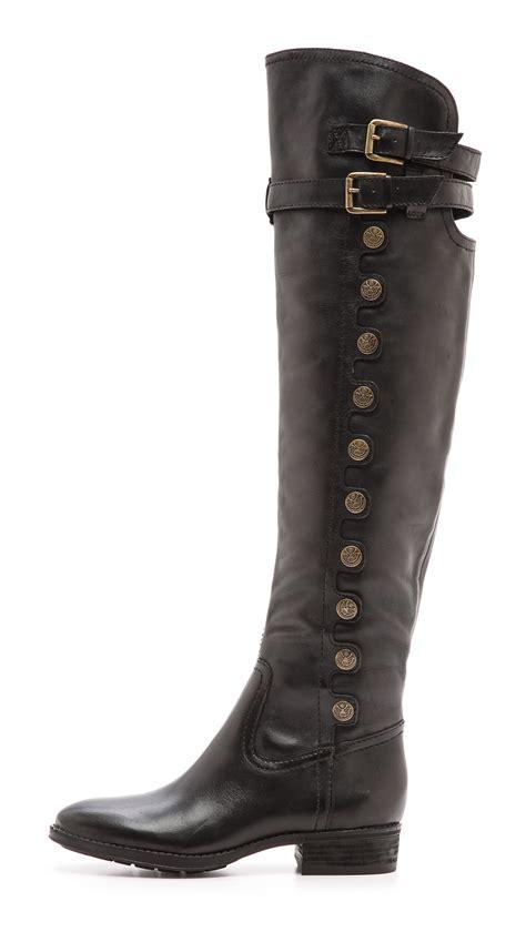 sam edelman the knee boots sam edelman the knee button boots black in