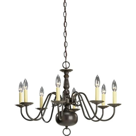 Chandelier Home Depot by Progress Lighting Americana Collection Antique Bronze 8 Light Chandelier The Home Depot Canada