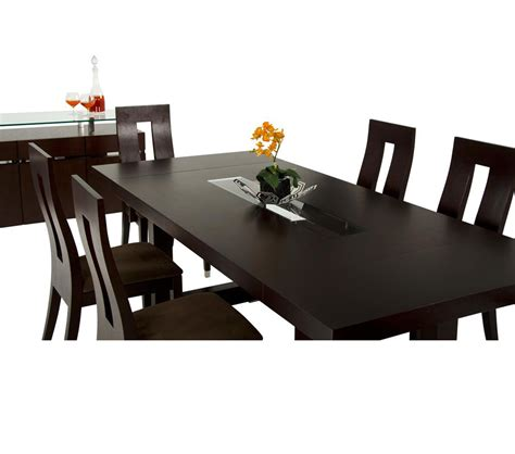 Modern Wenge Dining Table Dreamfurniture Thor Modern Wenge Oak Veneer Dining Table
