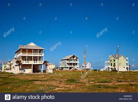 buy a house in texas usa wooden house on stilts on beach front galveston texas usa stock photo royalty free