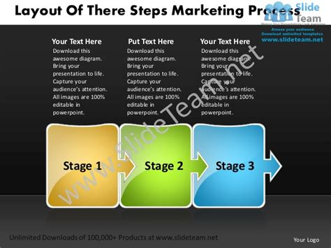 executive powerpoint templates of three steps marketing process business plan executive