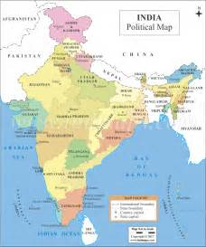 india political map political map of india