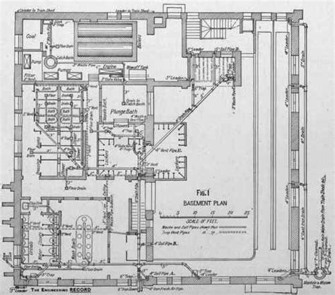 Reading Plumbing Blueprints by Plumbing In The Railroad S Reading Room New York