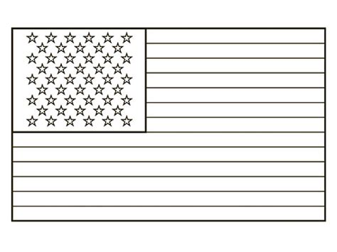 template of the american flag free american flag coloring pages