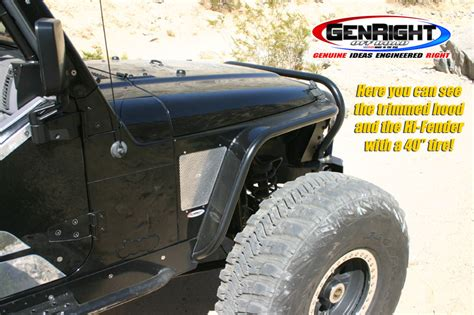 Jeep Tj Fenders Genright Hi Fender Fenders With Built In Flares For