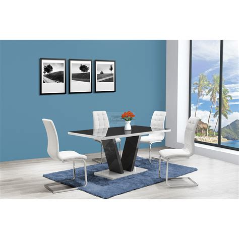 zara high gloss dining table 160cm available in 2