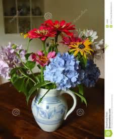 Blue Ceramic Vases Antique Vase Of Flowers Stock Photo Image Of Ceramic