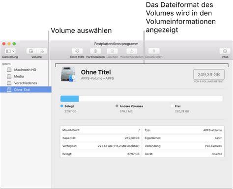 format exfat or ms dos im festplattendienstprogramm auf dem mac verf 252 gbare