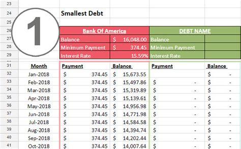 Credit Card Debt Balance Sheet Template by Debt Snowball Spreadsheet 187 One Beautiful Home