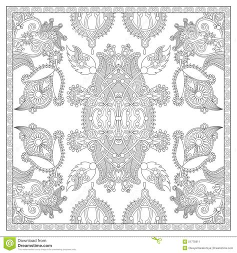 unique coloring books for adults unique coloring book square page for adults stock vector