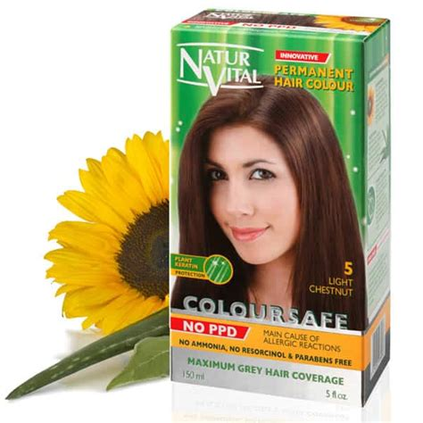 ppd free hair color ppd free hair dye naturvital coloursafe light chestnut no