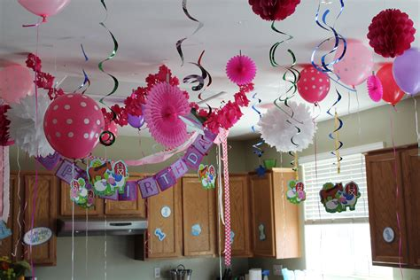 the house decorations for the babies first birthday party